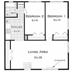 Two bedroom apartment rentals in Boulder CO. This is the Yukon floor plan.