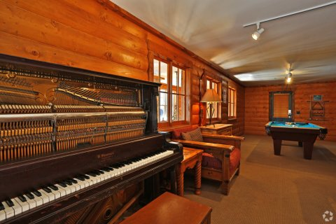 Player piano and pool table